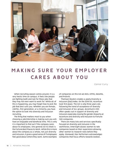 Page 12 of Making Sure Your Employer Cares About You