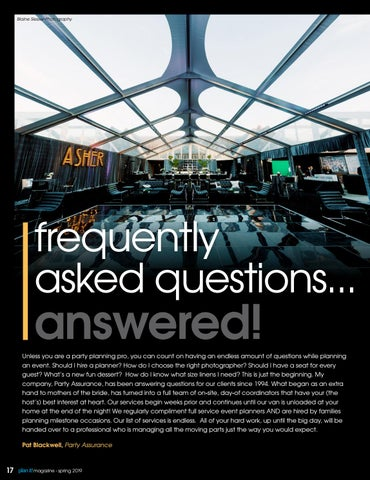 Page 18 of Frequently Asked Questions... Answered!