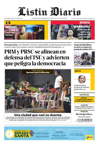 Ld 13 04 2019 By Listín Diario Issuu