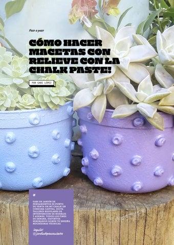 Page 8 of Cómo hacer macetas con relieve con la Chalk Paste!