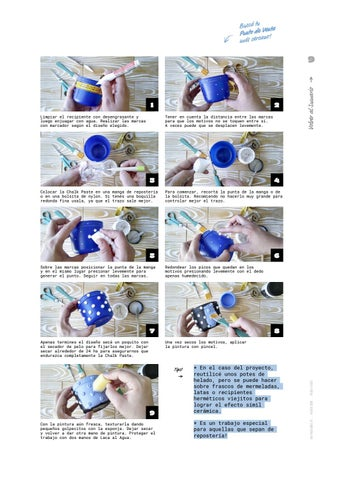 Page 9 of Cómo hacer macetas con relieve con la Chalk Paste!