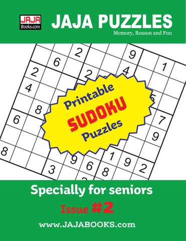 image relating to Printable Sudoku Grid known as Printable SUDOKU Puzzles. Dilemma #2 through JAJA Publications - issuu