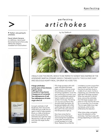 Page 11 of PERFECTING… ARTICHOKES