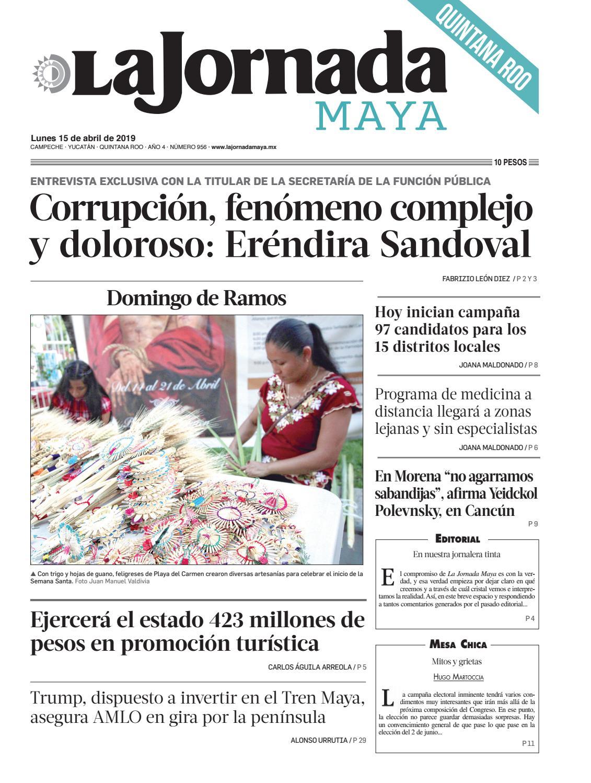 cddd2b3b75 La Jornada Maya · lunes 15 de abril de 2019 by La Jornada Maya - issuu