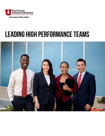 Leading High Performance Teams Class Guide by University of