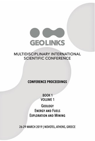 GEOLINKS Conference Proceedings 2019 Book 1 Volume 1 by