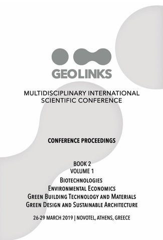 GEOLINKS Conference Proceedings 2019 Book 2 Volume 1 by