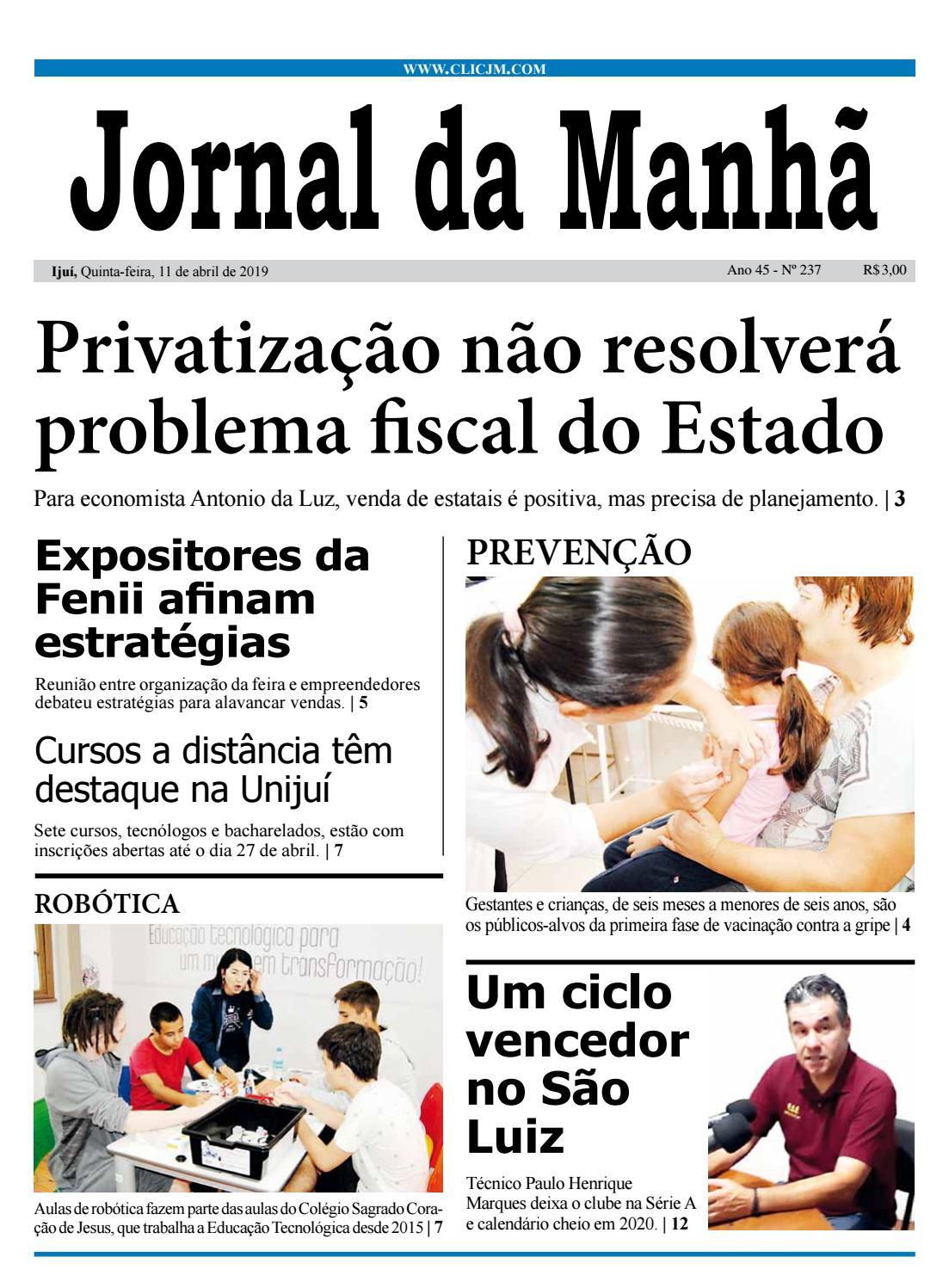 17e097d7f Jornal da Manhã - Quinta-feira - 11-04-2019 by clicjm - issuu