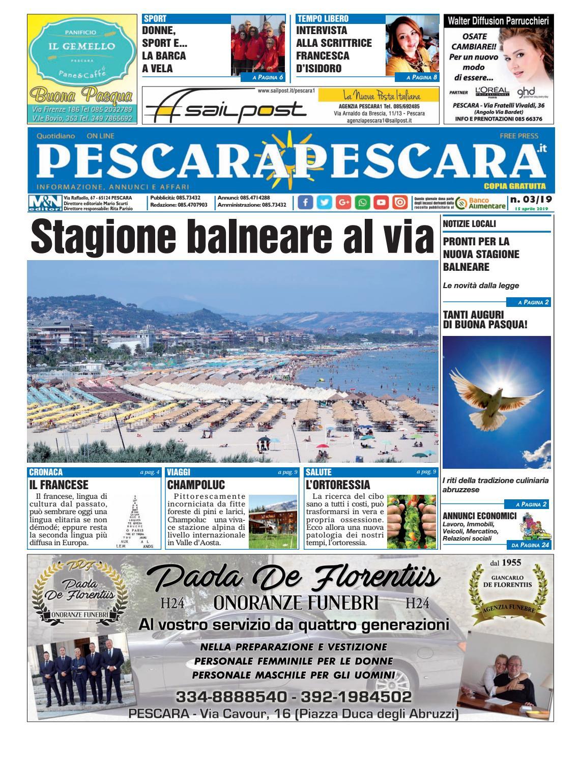 Pescarapescara N 03 Del 15 04 2019 By Pescarapescara Issuu