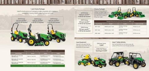 Page 2 of Green Tractors Compact Tractor Packages