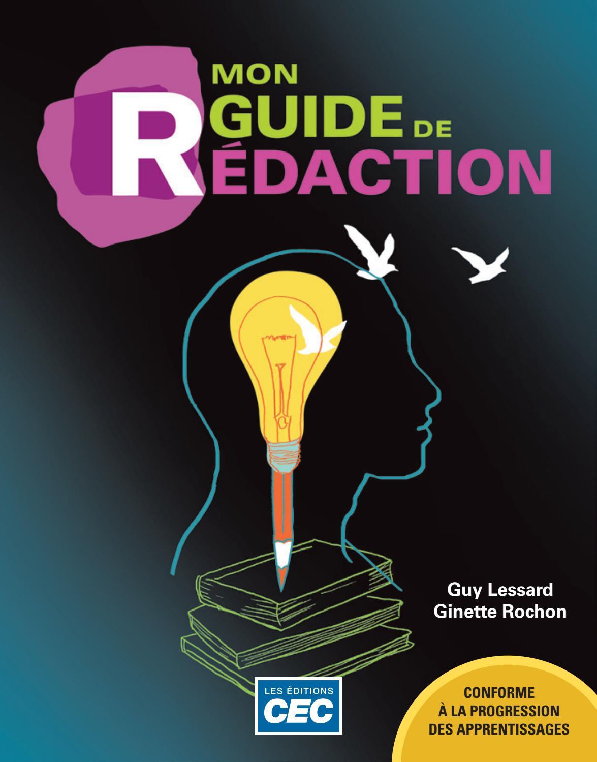 Extrait Mon Guide De Redaction By Les Editions Cec Issuu