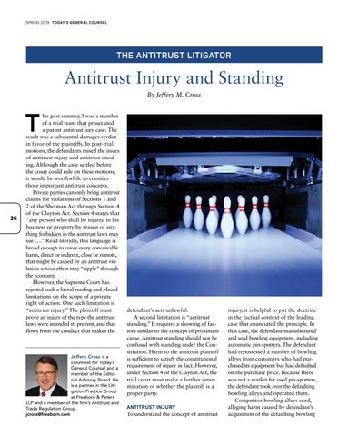 Page 38 of Antitrust Injury and Standing