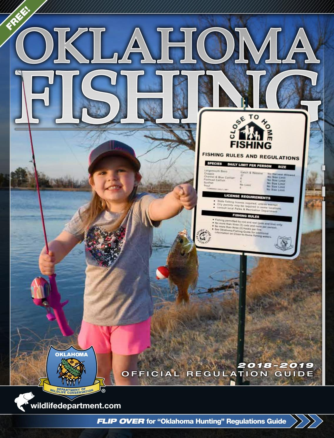 Oklahoma Fishing 2018-19 Official Regulation Guide by Oklahoma ...