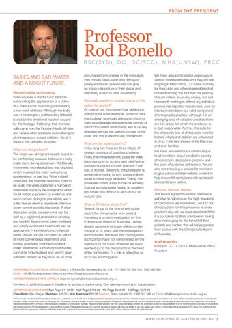 Page 3 of Professor Rod Bonello
