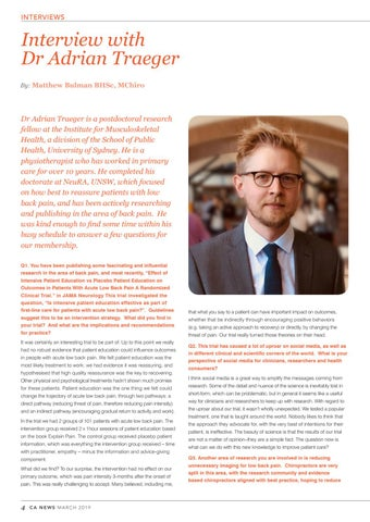 Page 4 of Interview with Dr Adrian Traeger