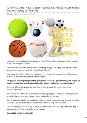 sports blogs 2017