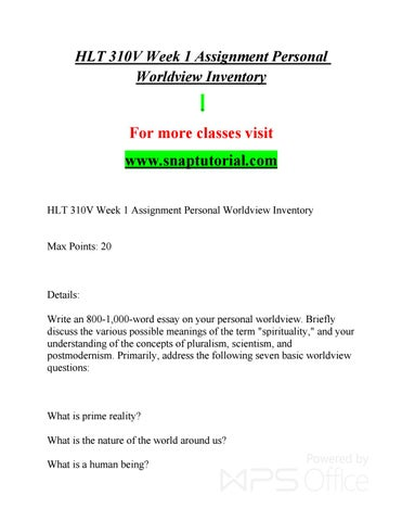 HLT 310V Enhance teaching - snaptutorial com by