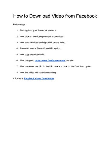 How to Download Video from Facebook by Facebook Video