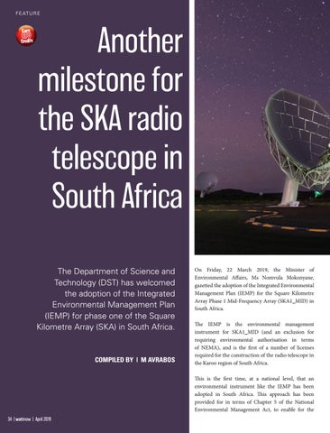 Page 34 of Another milestone for the SKA radio Telescope in South Africa
