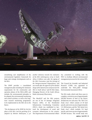 Page 35 of Another milestone for the SKA radio Telescope in South Africa
