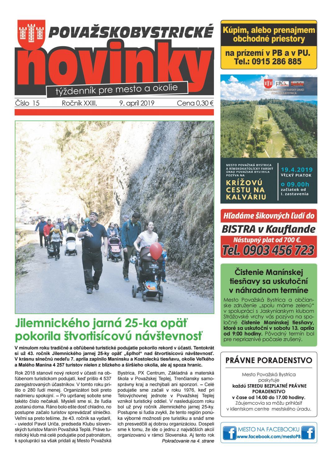 a6cd90410672 Považskobystrické novinky č. 15 2019 by Považskobystrické novinky - issuu
