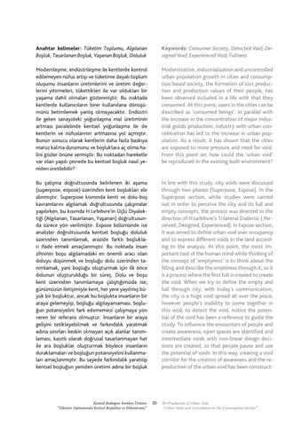 """Page 31 of Kentsel Boşluğun Yeniden Üretimi """"Tüketim Toplumunda Kentsel Boşluklar ve Eklemlenme'' / Re-Productıon of Urban Void ''Urban Voids and Articulation in The Consumption Society'' - Kerim Yüksek"""