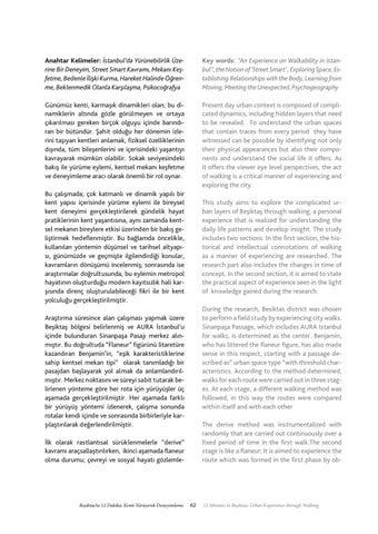 Page 63 of Beşiktaş'ta 12 Dakika: Kenti Yürüyerek Deneyimleme / 12 Minutes in Beşiktaş: Urban Experience through Walking - Şeyma Büyükkoçak