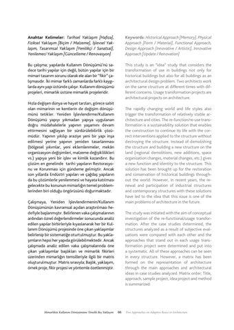 Page 67 of Mimarlıkta Kullanım Dönüşümüne Yönelik Beş Yaklaşım / Five Approaches on Adaptive Reuse - M. Can Çilek