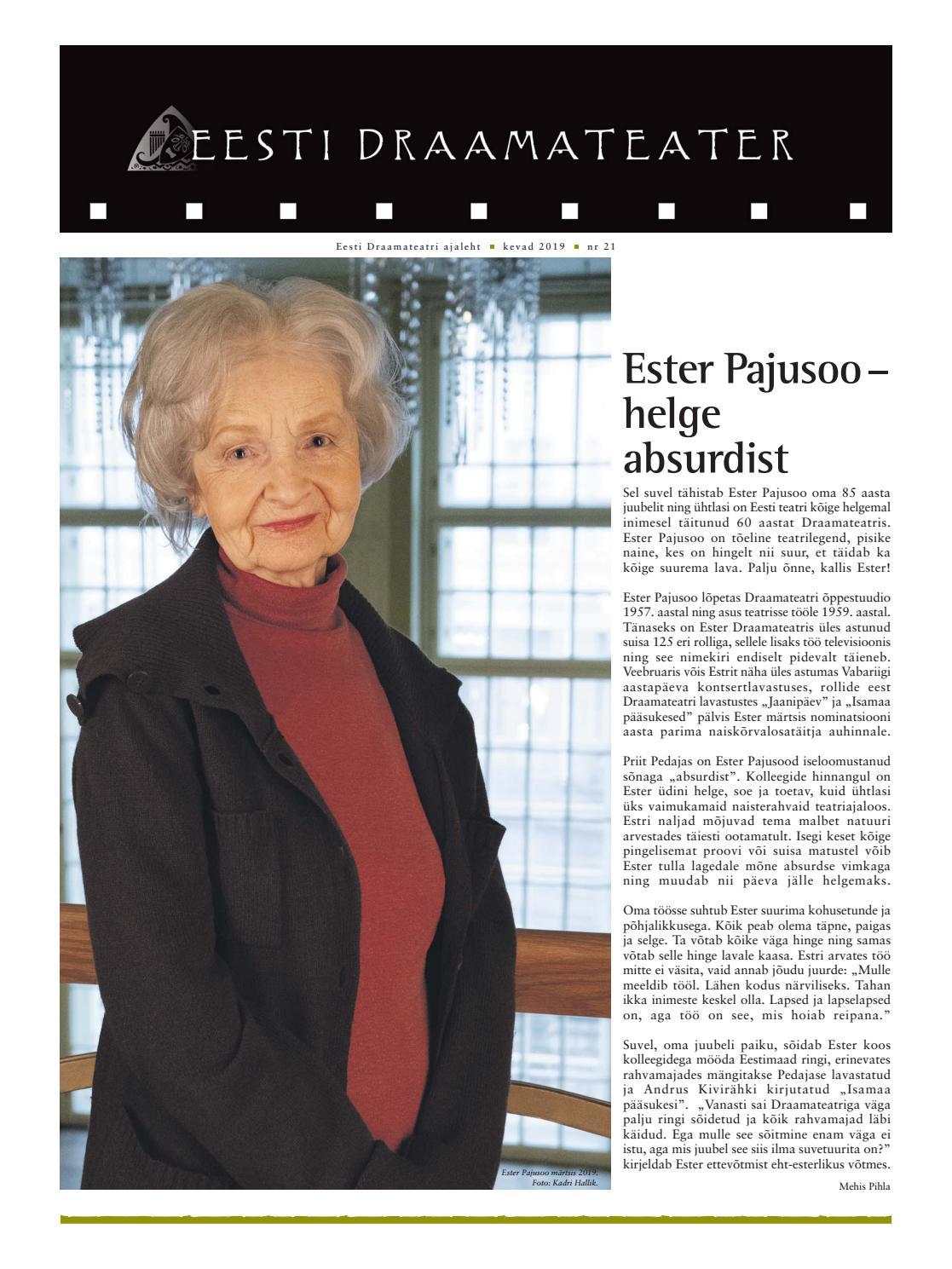 0e25a9bde54 Eesti Draamateatri ajaleht, aprill 2019 by Eesti Draamateater - issuu