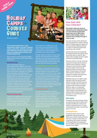 Page 8 of Holiday Camps & Courses Guide