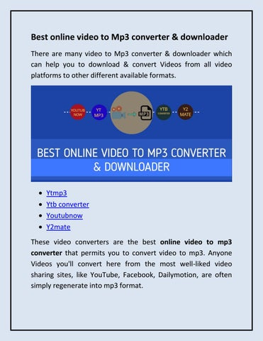 Best online video converter & downloader by akshaytrank - issuu