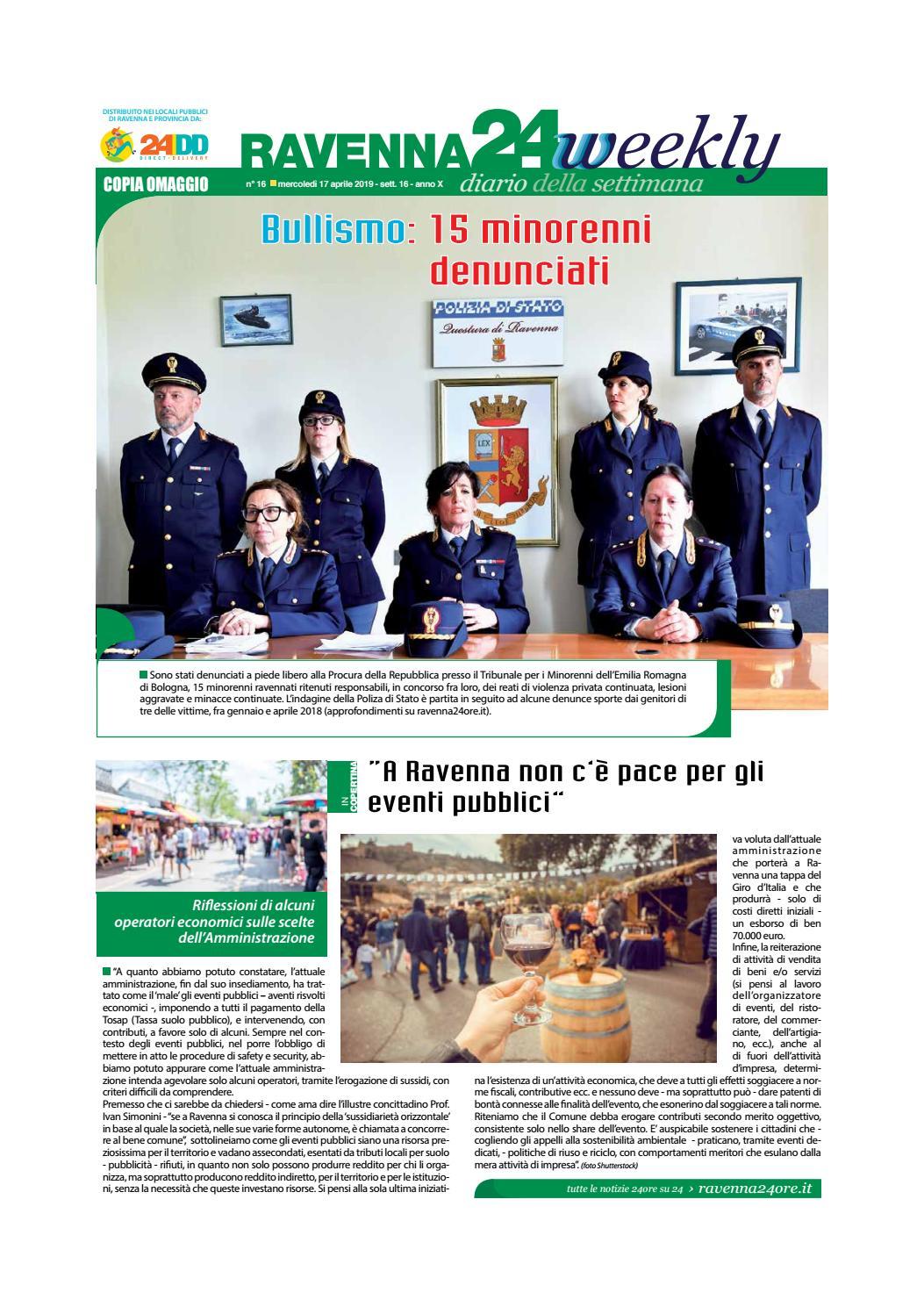 Ravenna24Weekly 17 Aprile 2019 by Edit Italia S.r.l. issuu