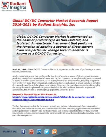 DC/DC Converter Market Report 2016-2021 | Latest Trend