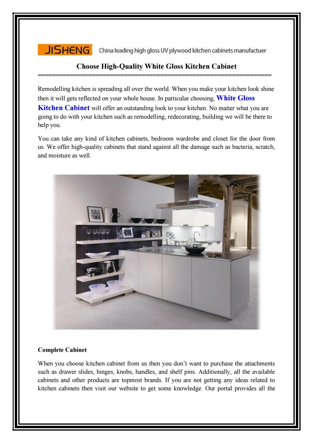 Fabulous Choose High Quality White Gloss Kitchen Cabinet By Home Interior And Landscaping Analalmasignezvosmurscom