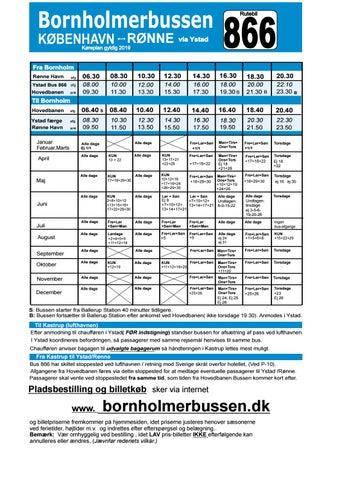 Bornholmerbussen køreplan 2019
