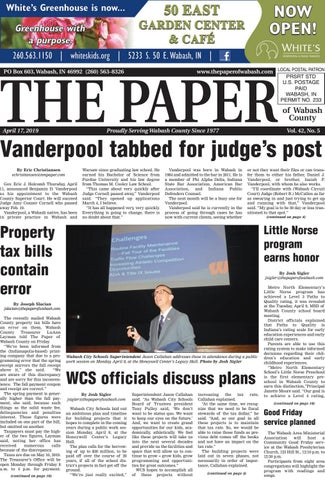 The Paper of Wabash County - April 17, 2019 issue by The