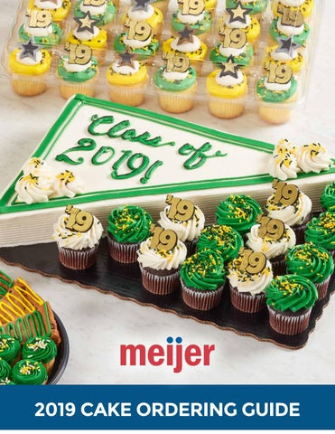 2019 Meijer Cake Ordering Guide