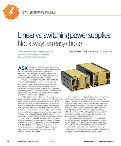 Page 18 of Linear vs. Switching Power Supplies: Not Always an Easy Choice