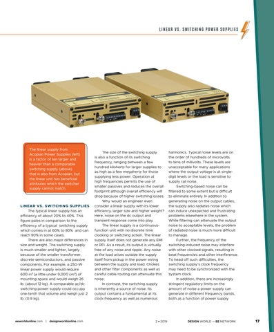 Page 19 of Linear vs. Switching Power Supplies: Not Always an Easy Choice
