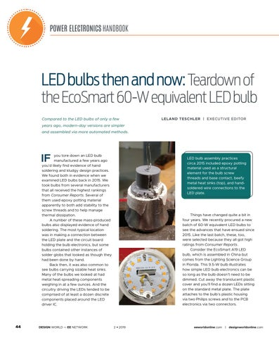 Page 46 of LED Bulbs Then and Now: Teardown of the EcoSmart 60-W Equivalent LED Bulb