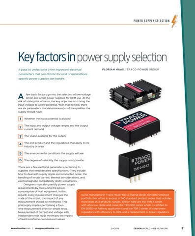 Page 9 of Key Factors in Power Supply Selection