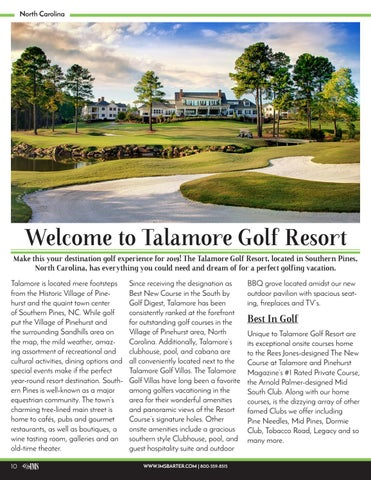Page 10 of Welcome to the Talamore Golf Resort