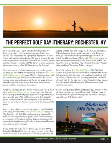 Page 5 of The Perfect Golf Itinerary: Rochester, NY