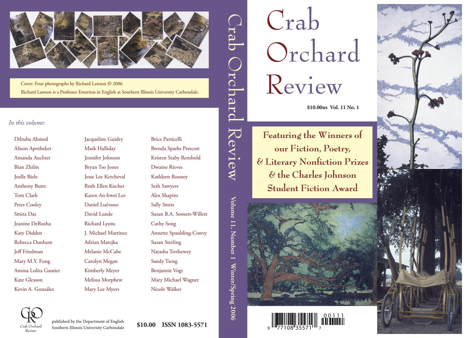 05f80af5586c Crab Orchard Review Vol 11 No 1 W/S 2006 by Crab Orchard Review - issuu