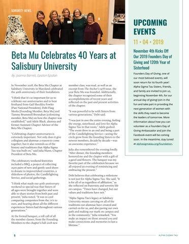 Page 6 of Beta Mu Celebrates 40 Years at Salisbury University
