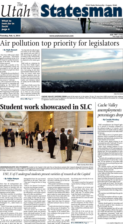 The Utah Statesman - February 4, 2014 by USU Digital Commons
