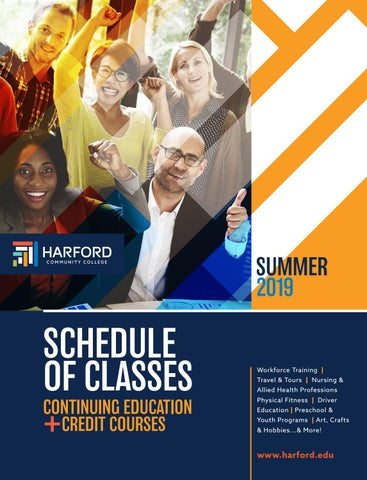 Summer 2019 Schedule Of Classes By Harford Community