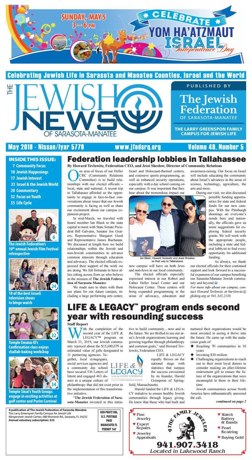 17fd4caa4 The Jewish News - May 2019 by The Jewish Federation of Sarasota-Manatee -  issuu