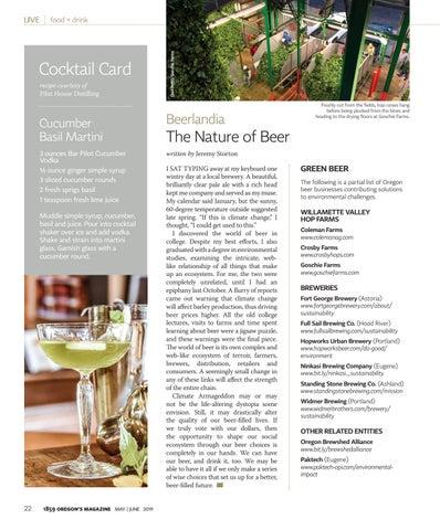 Page 24 of The (Oregon) Cucumber Basil Martini