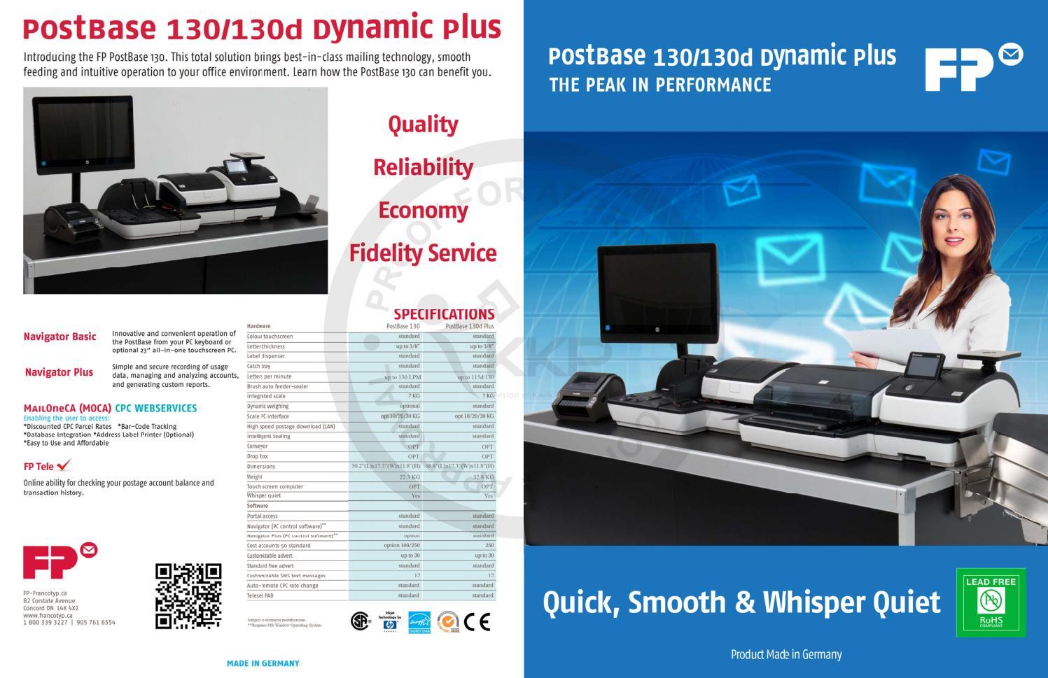 PostBase 130/130d Dynamic Plus (Canada) by FP USA - issuu
